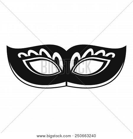 Strange Carnival Mask Icon. Simple Illustration Of Strange Carnival Mask Vector Icon For Web Design