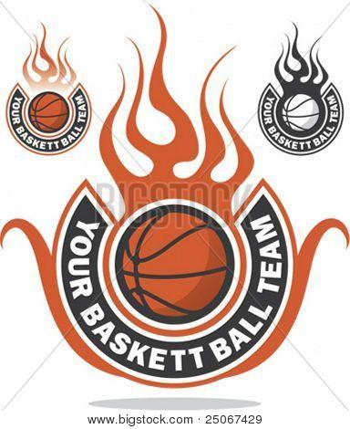 Ready made basketball logo