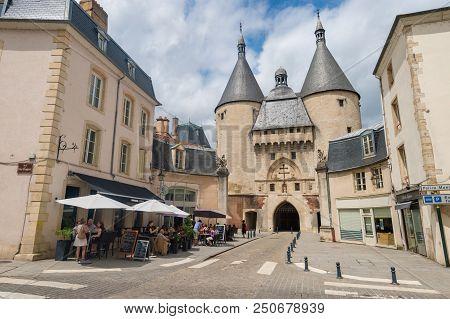 Nancy, France - 21 June 2018: View Of Porte De La Craffe (craffe Gate)
