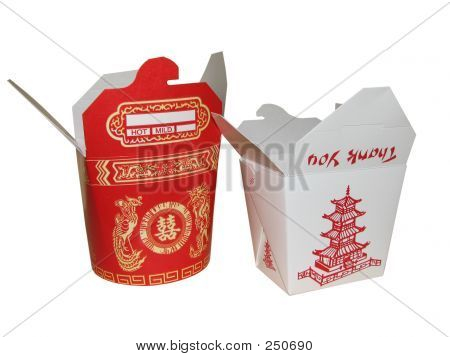 Large And Small Chinese To Go Box