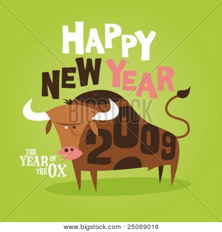 Chinese New Year of the Ox greeting card 2009