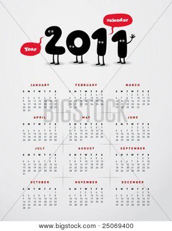 Funny year 2011 calendar