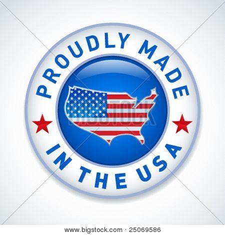 Feito no ícone EUA