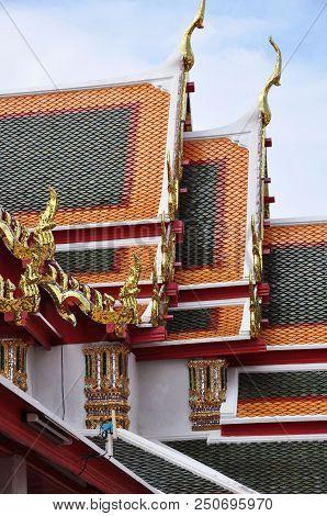 Tayland Wat Pho Tapınak Temple çatı Roof Seyehat Tatil