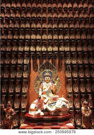 Budizim Yapı Mimari Budizim Tapınak Chinatown Colourful