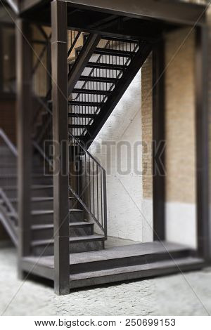 Industrial Style Of Exterior Building With Day Light Stock Photo