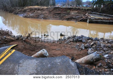 Flood Damage West Of Chehalis, Wa