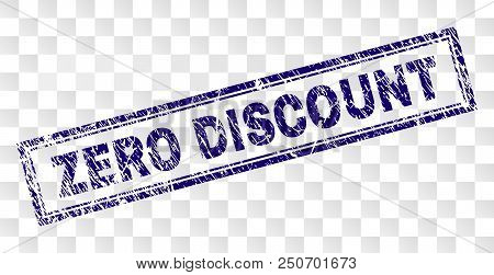 Zero Discount Stamp Seal Imprint With Rubber Print Style And Double Framed Rectangle Shape. Stamp Is