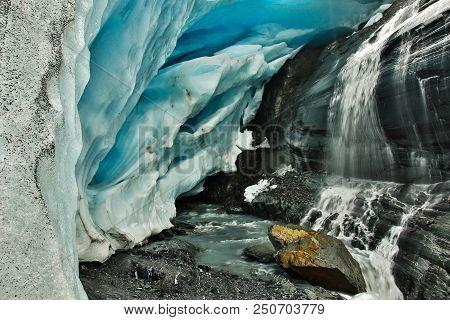 Worthington Glacier By The Road Near Wrangell-st. Elias Np, Alaska, Most Accessible Alaskan Glacier,
