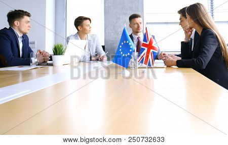 Disagreements Between The Leaders Of The European Union And Great Britain At The Meeting. Brexit