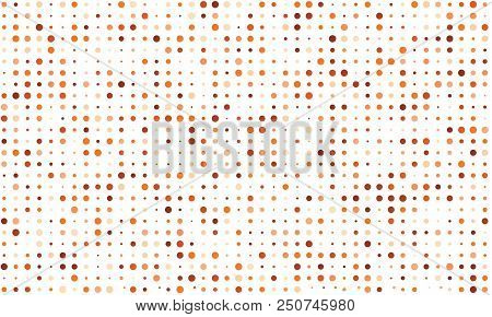 Vector Seamless Background Of Many Colored Circles Of Random Size And Random Shade. Shades Of Orange