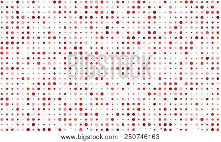 Vector Seamless Background Of Many Colored Circles Of Random Size And Random Shade. Shades Of Red