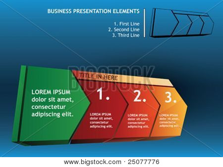 presentation diagram arrow elements with text
