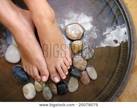 Aromatherapy foot treatment.