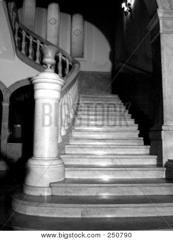 Stairs In Black And White