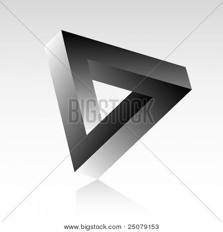 Triangle optical illusion.