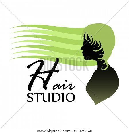 Hair studio design concept.
