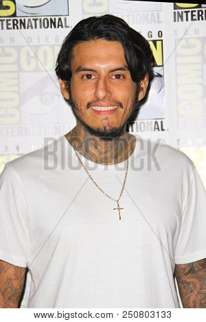SAN DIEGO - July 21:  Richard Cabral at the Comic-Con 2018, Sunday Press Line at the Comic-Con International on July 21, 2018 in San Diego, CA