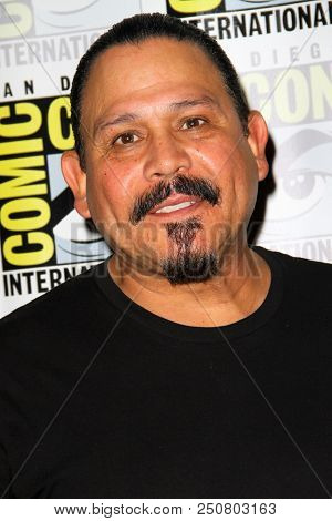 SAN DIEGO - July 21:  Emilio Rivera at the Comic-Con 2018, Sunday Press Line at the Comic-Con International on July 21, 2018 in San Diego, CA