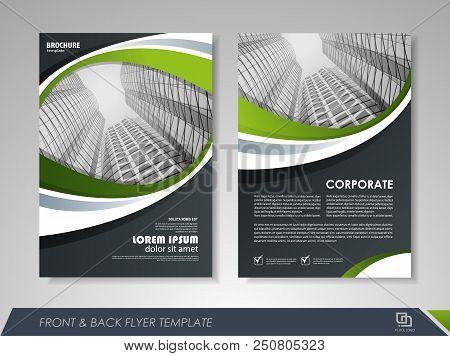 Modern Green Brochure Design, Brochure Template, Brochures, Brochure Layout, Brochure Cover, Brochur