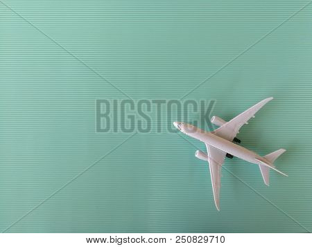 Top view of toy airplane