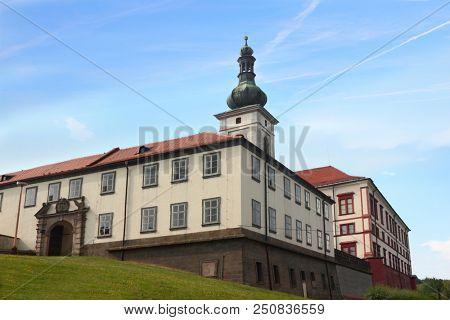 Gate to palace in Zakupy, Czech Republic