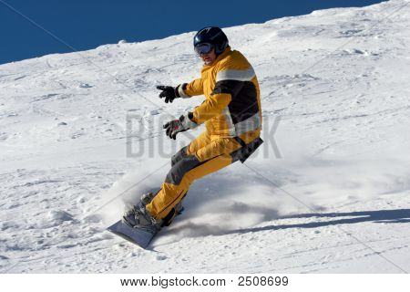 Snowboard In Yellow Suite