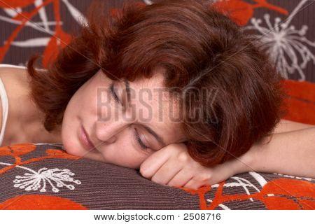 Woman Taking A Nap