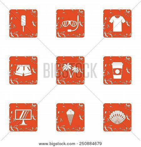 Amateur Icons Set. Grunge Set Of 9 Amateur Vector Icons For Web Isolated On White Background