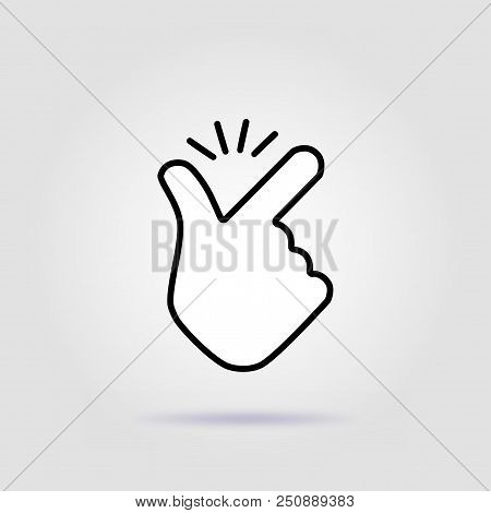 Thin Line Snap Finger Like Easy Logo. Concept Of Female Or Male Make Flicking Fingers And Popular Ge