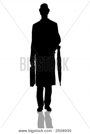 City Business Gent Silhouette