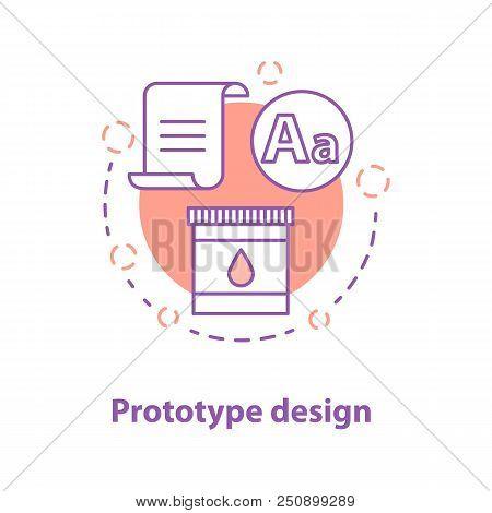 Prototype Design Concept Icon. Project Realization Idea Thin Line Illustration. Graphic Design. Vect