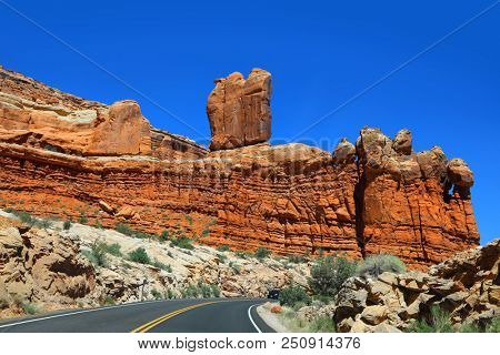 Scenic drive in Arches national park
