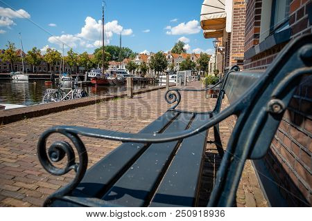 One Of The Best Preserved Historic Cities Of Northern Netherlands With An Inner Harbor. View Over Ca