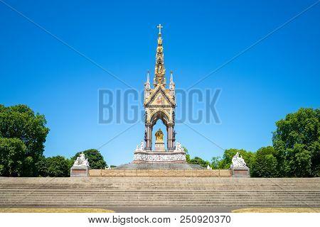 Albert Memorial, situated in Kensington Gardens, uk poster