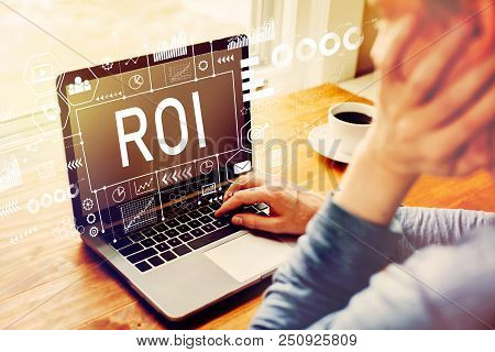 Roi With Man Using A Laptop Computer