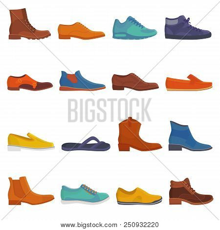 Man Shoe Vector Male Boots And Classic Leather Footwear Or Fashion Footgear Or Bootee For Men Illust