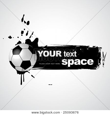 abstract grunge style football illustration