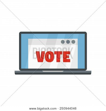 Online Vote Icon. Flat Illustration Of Online Vote Vector Icon For Web Isolated On White