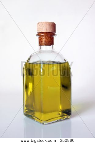 Oil In A Glass Bottle