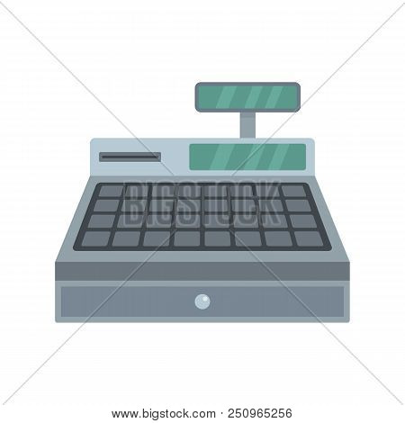 Cash Machine Icon. Flat Illustration Of Cash Machine Vector Icon For Web Isolated On White