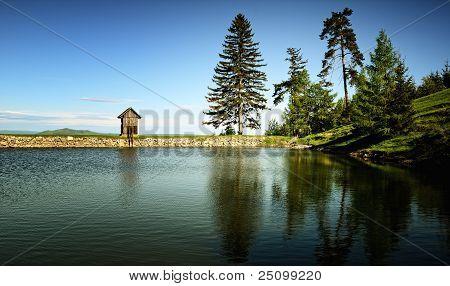 Lake Ottergrund in Banska Stiavnica, Slovakia UNESCO