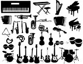 Music instruments poster