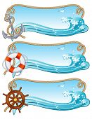 Vector illustration - sailing banners poster