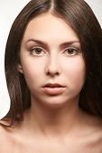 Cosmetologist beauty skin. Facelift spa cosmetology treatment. Model body surgery. poster