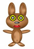 Soft toy - rabbit (hare) on white background poster