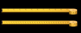 measure tape - inches and centimeters- vector