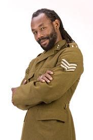 Rasta Armee schwarzen Mann
