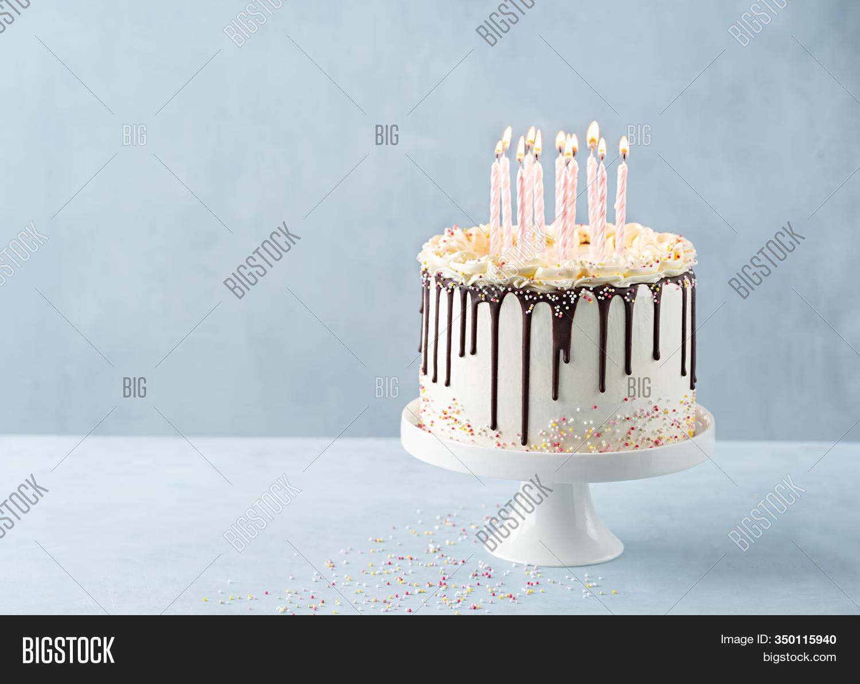 Marvelous Birthday Drip Cake Image Photo Free Trial Bigstock Funny Birthday Cards Online Hetedamsfinfo