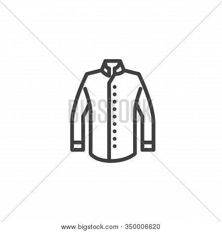 Chef Jacket Line Icon. Linear Style Sign For Mobile Concept And Web Design. Chefs Uniform Clothing O